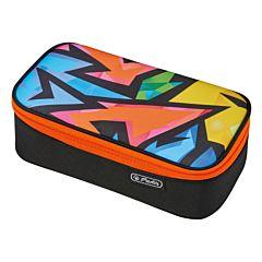 Penar necessaire Beat Box, forma ovala, inchidere cu fermoar, 22.5 x 12 x 7 cm, poliester, motiv Neon Art