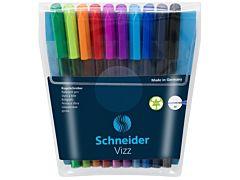 Set pixuri Vizz Schneider, tehnologie Gelco, varf M, 10 buc, Multicolor