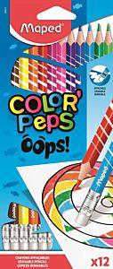 Set creioane colorate cu guma Color Peps Oops Maped, 12 culori