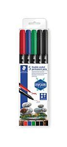 Marker permanent universal cu 2 capete, grosimi scriere 0.6 mm si 1.5 mm