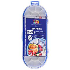 Set tempera cu pensula School Friendly Art, 12ml/tub, 10buc