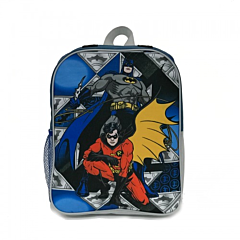 Ghiozdan mic cu pelerina detasabila Batman, 1 compartiment cu fermoar, bretele late