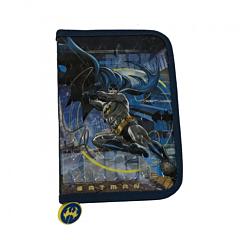 Penar cu fermoar si 2 flapsuri, imprimeu Batman, material textil, Multicolor
