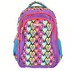 "Rucsac 18"" cu spate ergonomic Mesco, 3 compartimente, 2 buzunare laterale, compartiment laptop inclus, Multicolor"