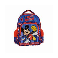 Ghiozdan mediu Mickey Mouse, 1 compartiment mare, 1 compartiment mediu frontal