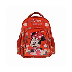 Ghiozdan mediu Minnie Mouse, 2 compartimente, 2 buzunare laterale