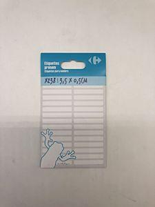 Etichete adezive pentru nume Carrefour, dimensiune 35x5mm, 238 buc