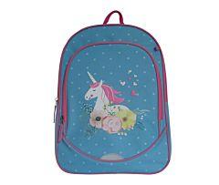 Ghiozdan pentru fete Unicorn, Carrefour, clasele I-IV, 42 cm
