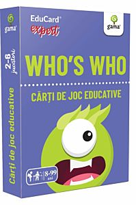 Carti de joc educative expert. Who's who