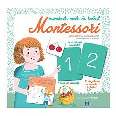 Numerele in relief Montessori