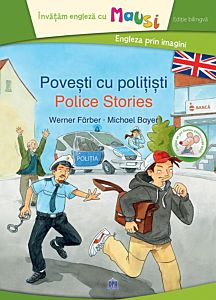 Povesti cu politisti - editie bilingva, contine un joc domino pentru copii