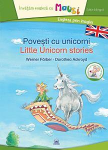Povesti cu unicorni - editie bilingva, contine un joc domino pentru copii