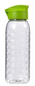 Sticla transparenta CURVER, Dots, tritan ultrarezistent, 0.45L, dop verde, inchidere ermetica