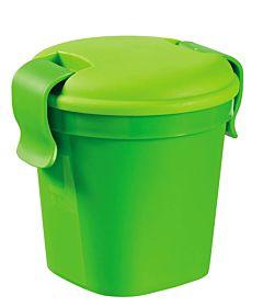 Pahar S cu capac, CURVER, Luch&Go, plastic, 0.4L, 10.7 x 11 x 12cm, verde
