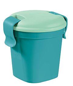Pahar S cu capac, CURVER, Luch&Go, plastic, 0.4L, 10.7 x 11 x 12cm, albastru
