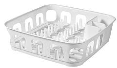 Uscator de vase Curver Essentials, plastic, patrat, 40x11x40 cm, Alb