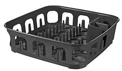 Uscator de vase Curver Essentials, plastic, patrat, 40x11x40 cm, Gri inchis