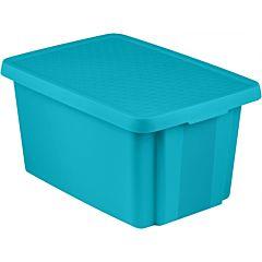 Cutie depozitare cu capac Curver Essentials, plastic, 45L, Albastru transparent