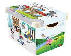 Cutie depozitare multifunctionala cu capac L, CURVER, Deco Stockholm, plastic, 22L, model BTS