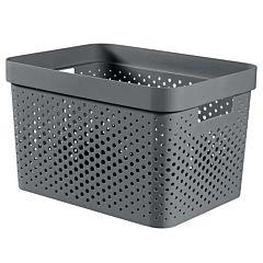 Cutie depozitare multifunctionala cu manere Curver Infinity, plastic reciclat, 17L, Gri