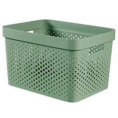 Cutie depozitare multifunctionala cu manere Curver Infinity, plastic reciclat, 17L, Verde