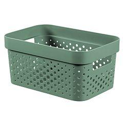 Cutie depozitare multifunctionala cu manere Curver Infinity, plastic reciclat, 4.5L, Verde