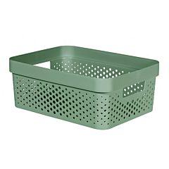 Cutie depozitare multifunctionala cu manere Curver Infinity, plastic reciclat, 11L, Verde