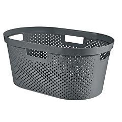 Cos depozitare multifunctional Curver Infinity, plastic reciclat, 40L, 26.5x58.5x38cm, Gri