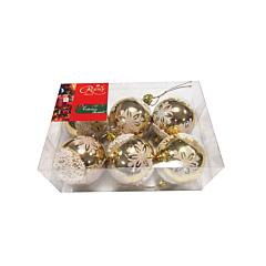 Set 6 globuri mate 50 mm, auriu