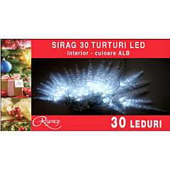 Instalatie sirag cu turturi 30 LED-uri, 4.5 m, Alb