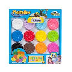 Plastelino 12 culori multipack 340g