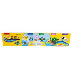 Plastelino - Multipack, 6 culori de Plastilina