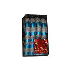 Set 4 acadele cu sclipici, 13 cm, albastru