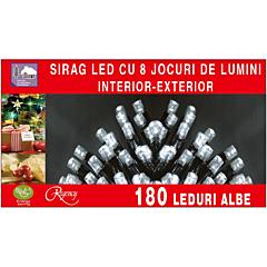 Instalatie sirag 180 LED-uri, lungime sirag 13.5 m, Alb