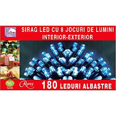 Instalatie sirag 180 LED-uri, lungime sirag 13.5 m, Albastru