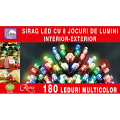 Instalatie sirag 180 LED-uri, lungime sirag 13.5 m, Multicolor