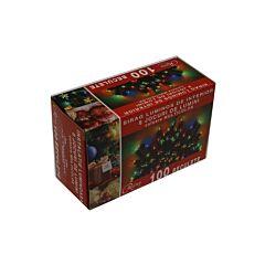 Instalatie tip sirag 100 beculete, 8 jocuri de lumini, multicolor