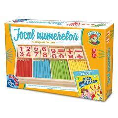 Joc colectiv Jocul numerelor cu piese din lemn, D-Toys
