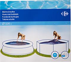 Husa solara pentru piscina Carrefour, 305 cm, Albastru