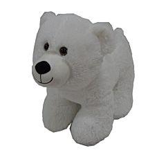 Urs polar de plus, 46cm, Alb