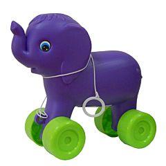 Elefant din plastic cu roti