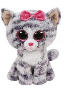 Jucarie plus Ty Kiki - Pisica gri 15 cm