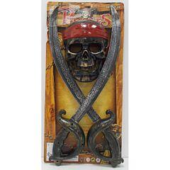 Set 2 sabii si masca pirati