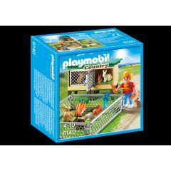 Jucarie Playmobil Country Farm - Tarc de iepuri cu cusca
