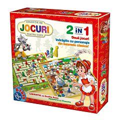 Joc colectiv 2 in 1 Pinocchio si Scufita , D-Toys