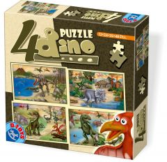 Set puzzle 4 bucati Dino, D-Toys