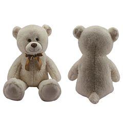 Urs de plus sezand, 100 cm, crem