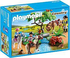 Jucarie Playmobil Set Plimbare la tara cu calutii