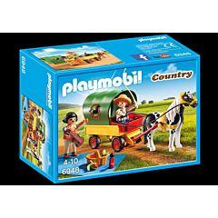 Jucarie Playmobil Pony Farm - Trasura cu ponei si picnic