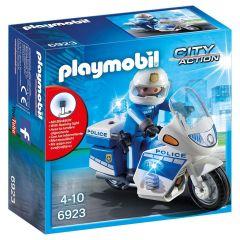 Jucarie Playmobil Police - Motocicleta politiei cu led